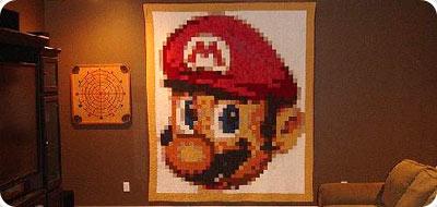 Mario Bros en el salon de la casa