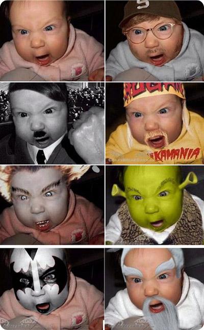 Imagenes graciosas. Nino-photoshop