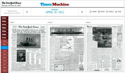 times machine para ver diarios viejos online