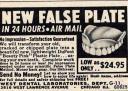 Dentadura falsa y nueva en 24 horas
