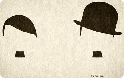 Ilustracion diferenciando a Hitler y Chaplin