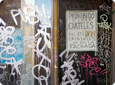 grafitis prohibidos en Madrid