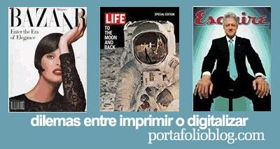 Dilema entre hacer una revista digital o hacerla impresa