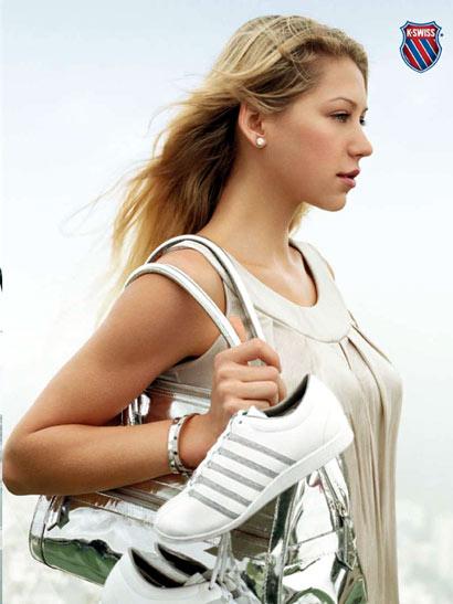 Anna Kournikova con las zapatillas K-Swiss