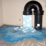 Grifo en New York goteando agua de pixeles