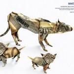 Publicidad creada con billetes, Leopardos
