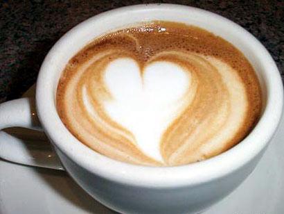 Café del amor, con un corazón