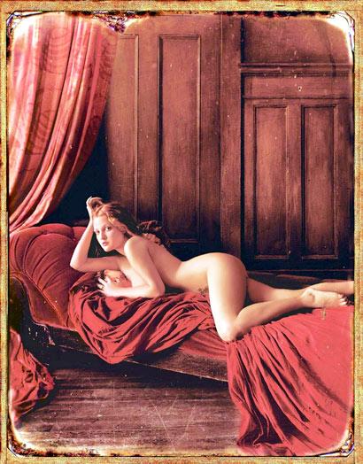 Drew Barrymore desnuda en una sesión artística clásica