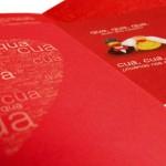 Invitación de Boda rojas con patos