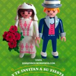 Invitación de Boda hecha con personajes de playmobil