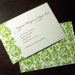 Invitación de Boda orgánica con adornos verdes