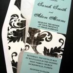 Invitación de Boda retro, a dos tintas
