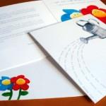 Invitación de Boda con flores y regadera
