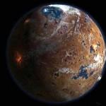 Planeta Marte visto desde el espacio