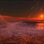 Lluvia de meteoritos en Marte