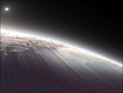 Luces de Marte, vistas desde el espacio