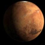Planeta Marte, vista espacial