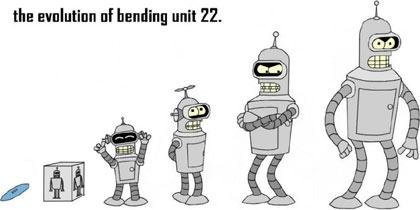 Bender, unidad dobladora 22, desde su infancia hasta la actualidad