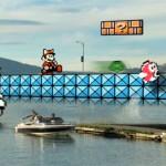 Super Mario Bros 3, paseando por un lago real