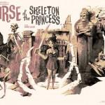 Chicas piratas en la maldición de la princesa esqueleto