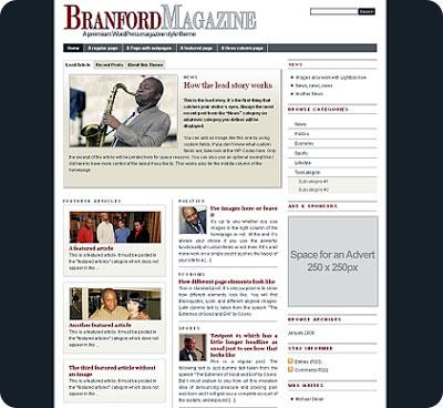 Theme para blog estilo Magazine o revista digital