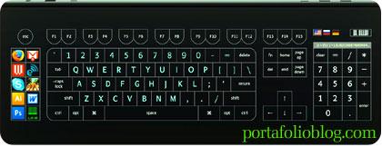 Optimus Tactus, teclado con tecnología táctil y buen diseño