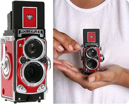 rolleiflex mini camera digital, compacta, efectiva y vintage