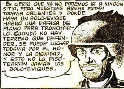 Tira comica de Soldado anti Bolchevique