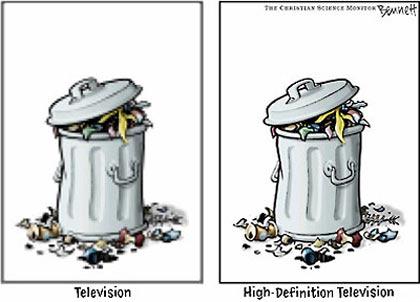 Tv clasica y Tv de alta definicion, basura
