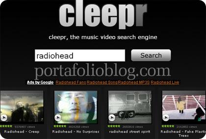 Cleepr, interfaz para buscar videos online