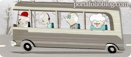 ilustracion de autobus en grafikal