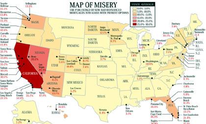 Mapa de la pobreza en Estados Unidos en la actualidad por la crisis hipoteacaria