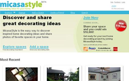 micasa style interfaz grafica de la red social