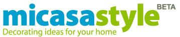 micasa style, logotipo llamativo de la red social