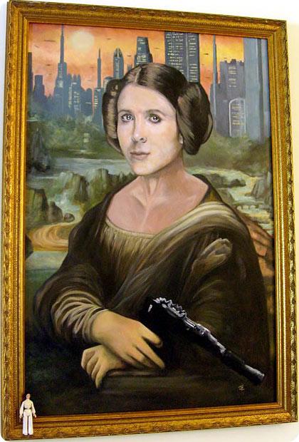 Mona Leia, mezcla geek y pop en una obra de arte muy pintorezca