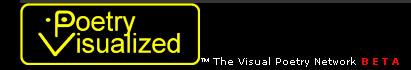 poetry visualized logotipo en negro y amarillo