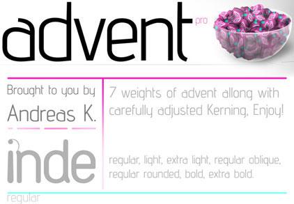 advent free font, tipografia gratis para minimalismo