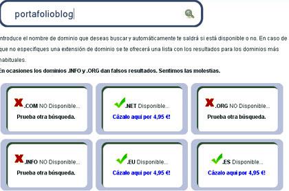 portafolio busqueda de dominio y disponibilidad