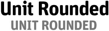 unit rounded, tipografia gratuita