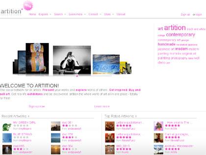 artition web, para artistas y amantes del arte