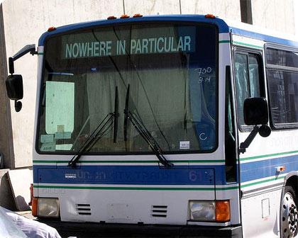 autobus a ninguna parte, en Berkeley, California