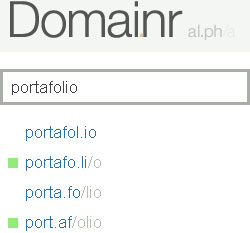 domainr, busca dominios alternativos