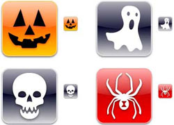 halloween iconos, iphonica, descarga gratis