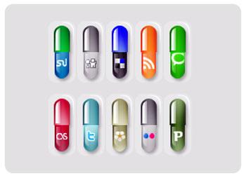 iconos pildoras, para sociabilizar blogs y webs
