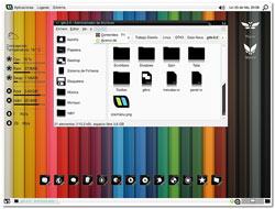 linux theme arcoiris, llamado gaia nova