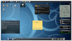 linux theme azul, formato estandar, agradable