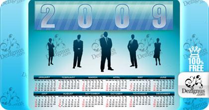 almanaques 2009 en vectores gratuitos para diseñadores