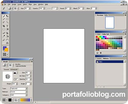 artweaver, editor gratuito digital para dibujo en capas