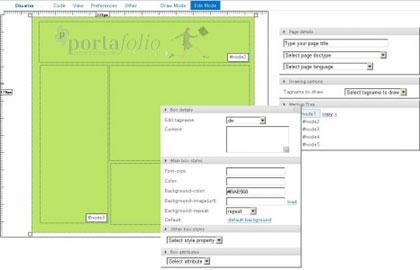 drawter, aplicacion online para crear estructuras html