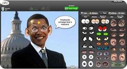 pizap Barack Obama, editando al presidente